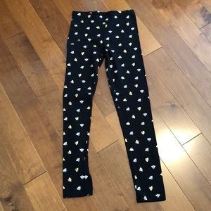 Leggings with gold and cream bees!